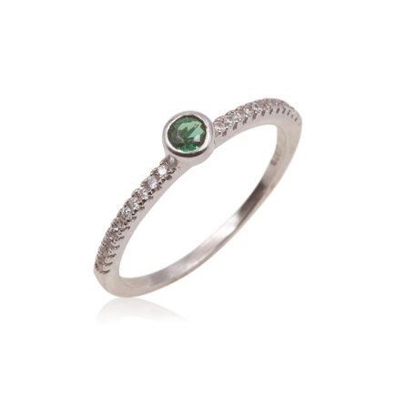 GREEN-SILVER-RING