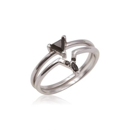 BLACK-DOUBLE-RING-SILVER