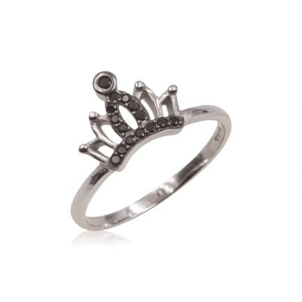 BLACK-CROWN-SILVER-RING