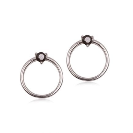CIRCLE-STUD-SILVER-EARRING