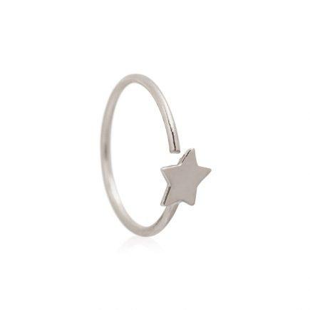 WHITE-GOLD-HELIX-STAR-EARRING